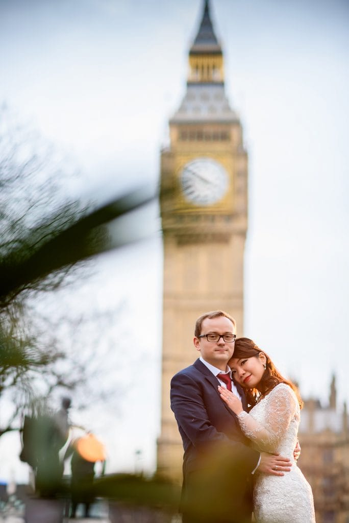 Big ben couple portraits