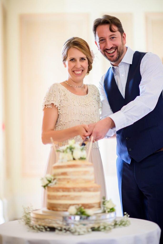 Danesfield house wedding cake