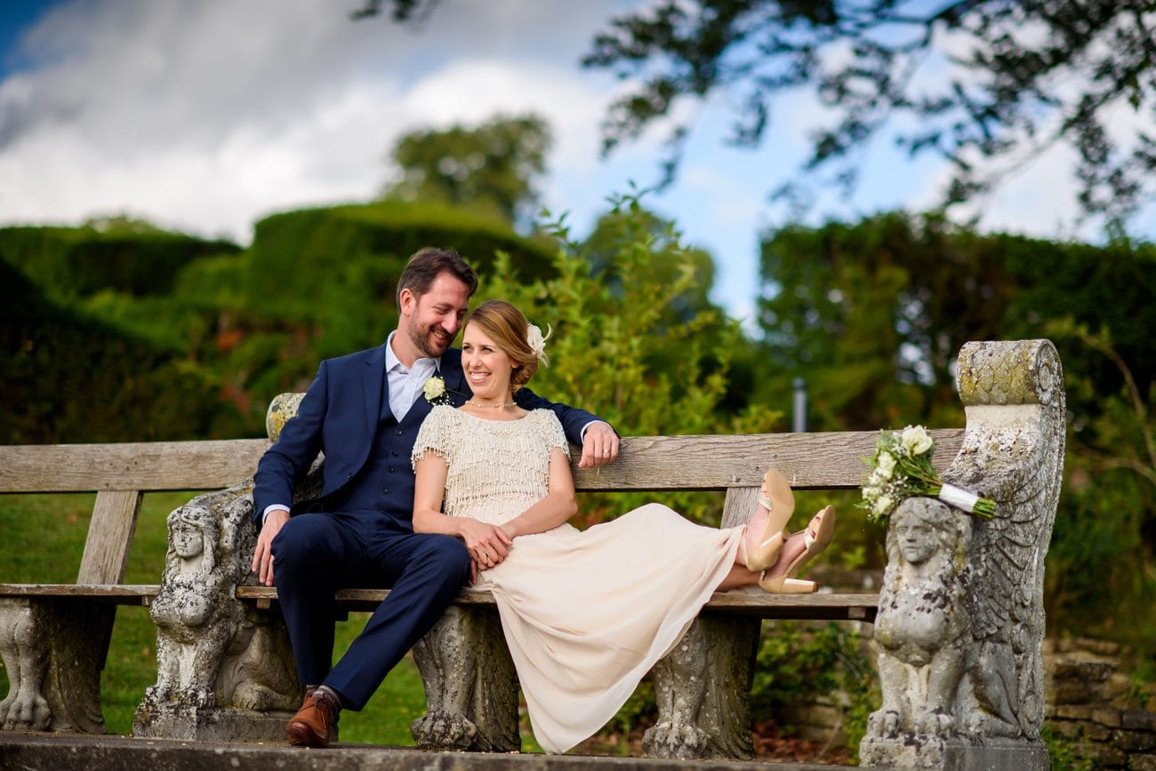 Danesfield house Wedding couple portraits