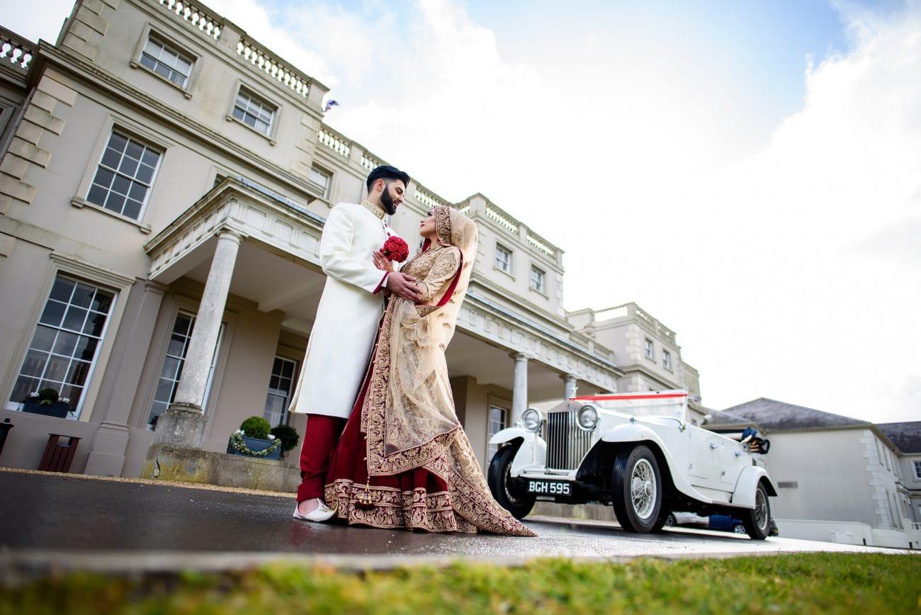 De vere wokefield bride groom portraits