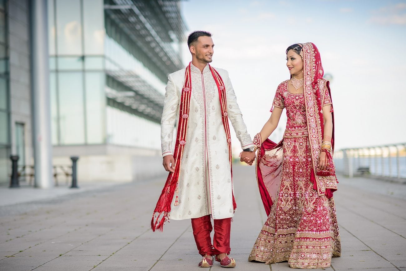 East london muslim Wedding couple portraits
