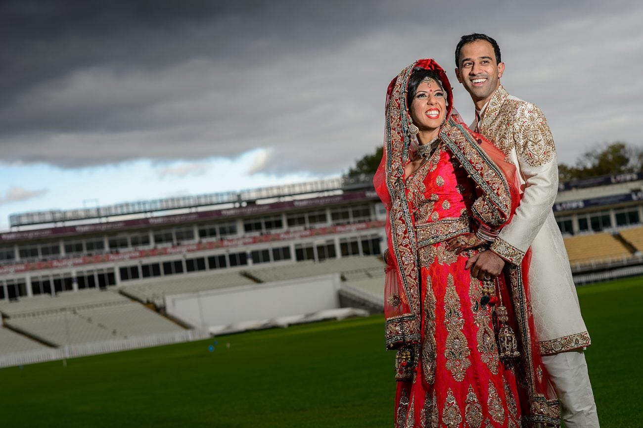 Edgbaston wedding couple portraits