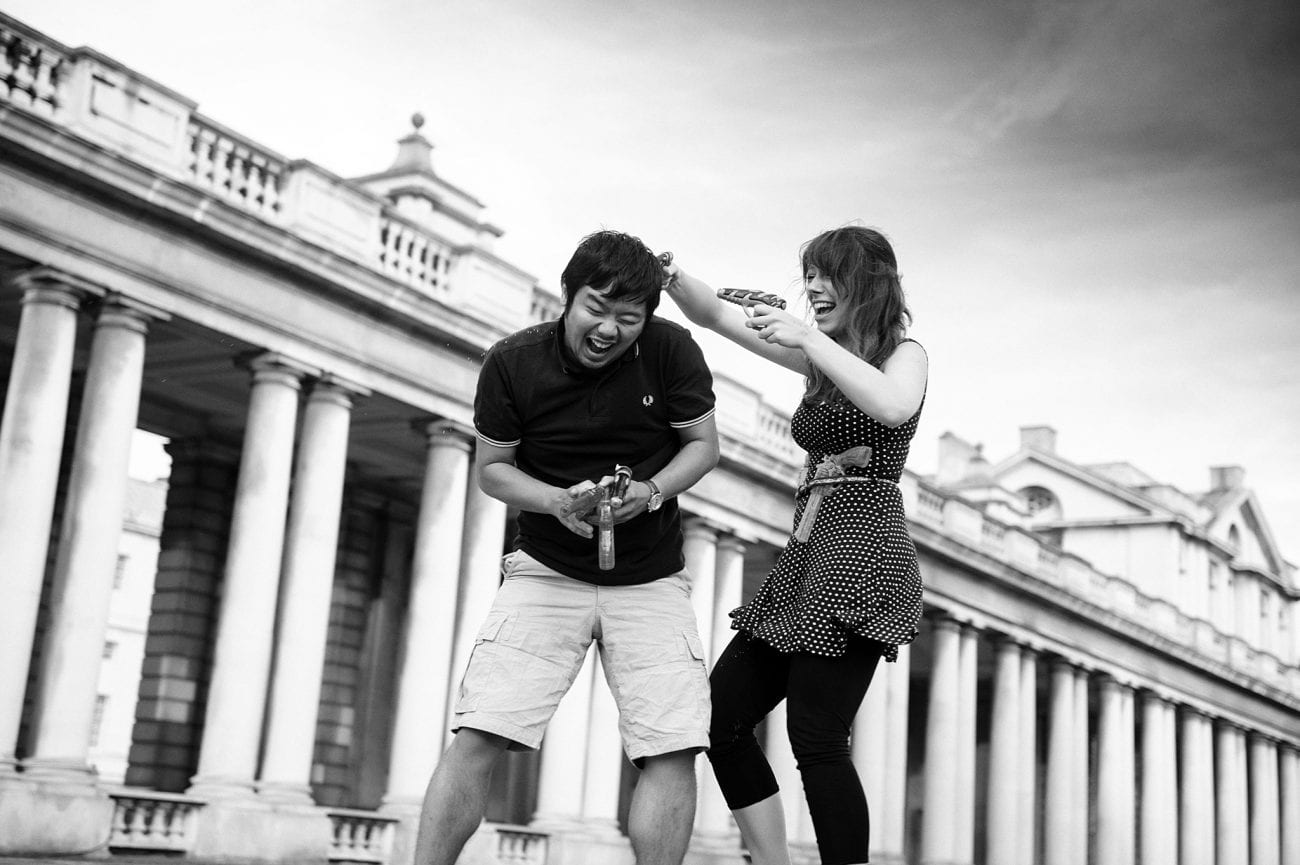 Greenwich couple portraits