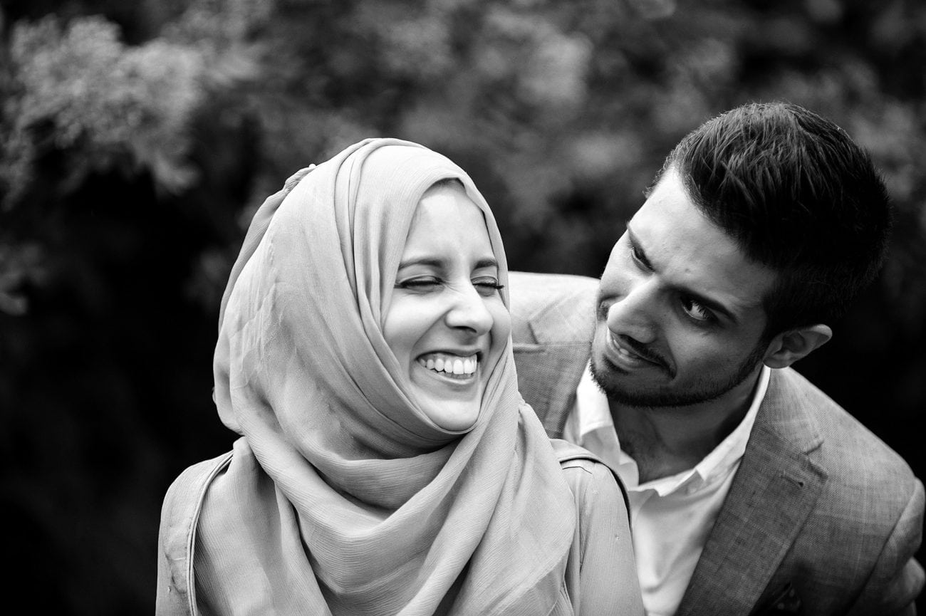 Ilford muslim wedding couple portraits