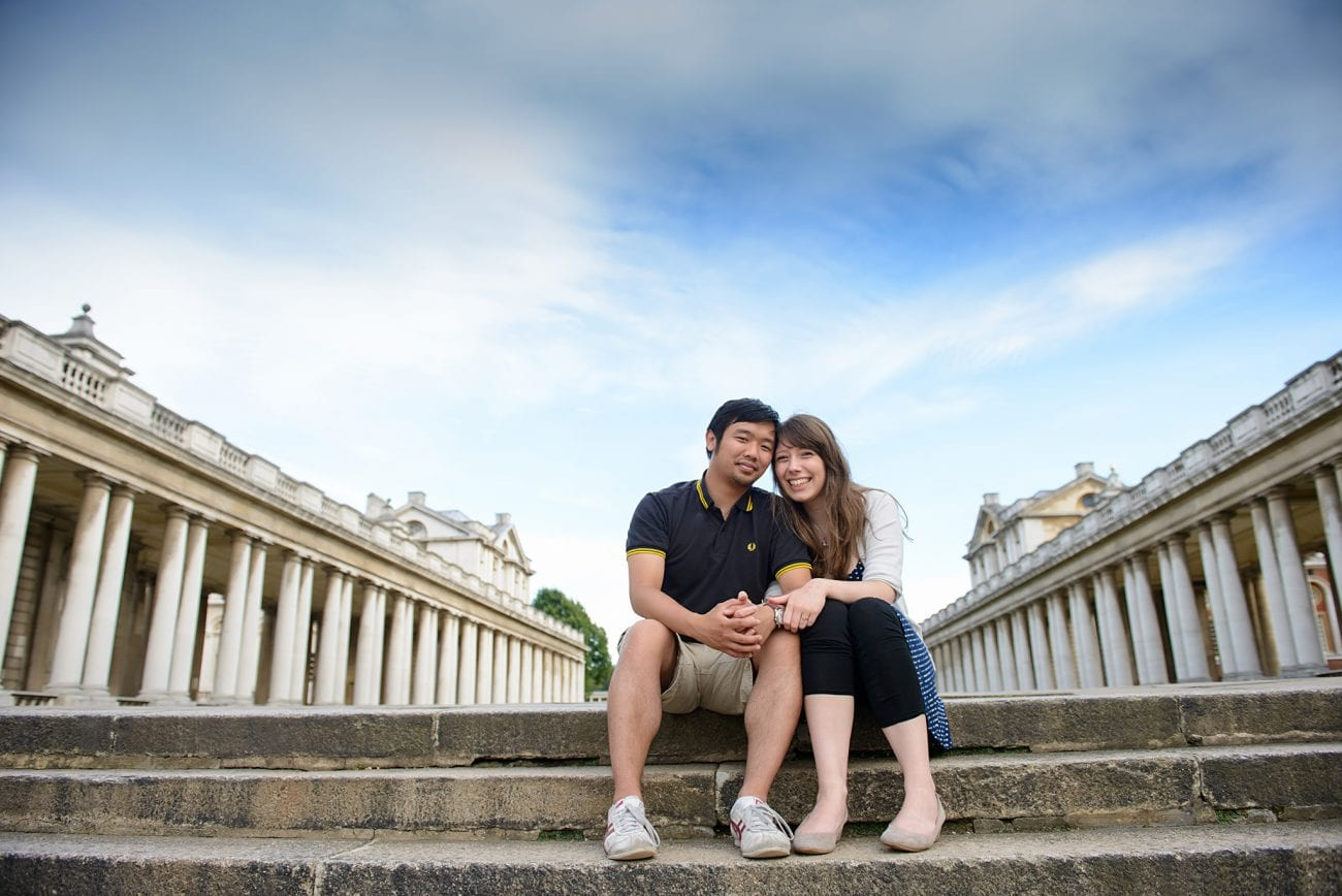 Old royal naval college engagement photographer