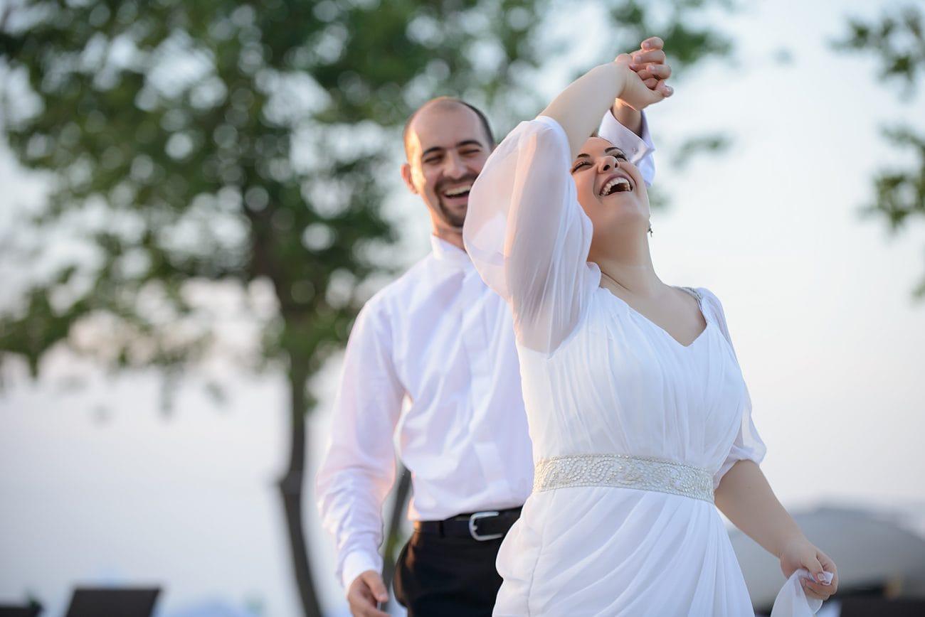 Seaside Wedding couple portraits