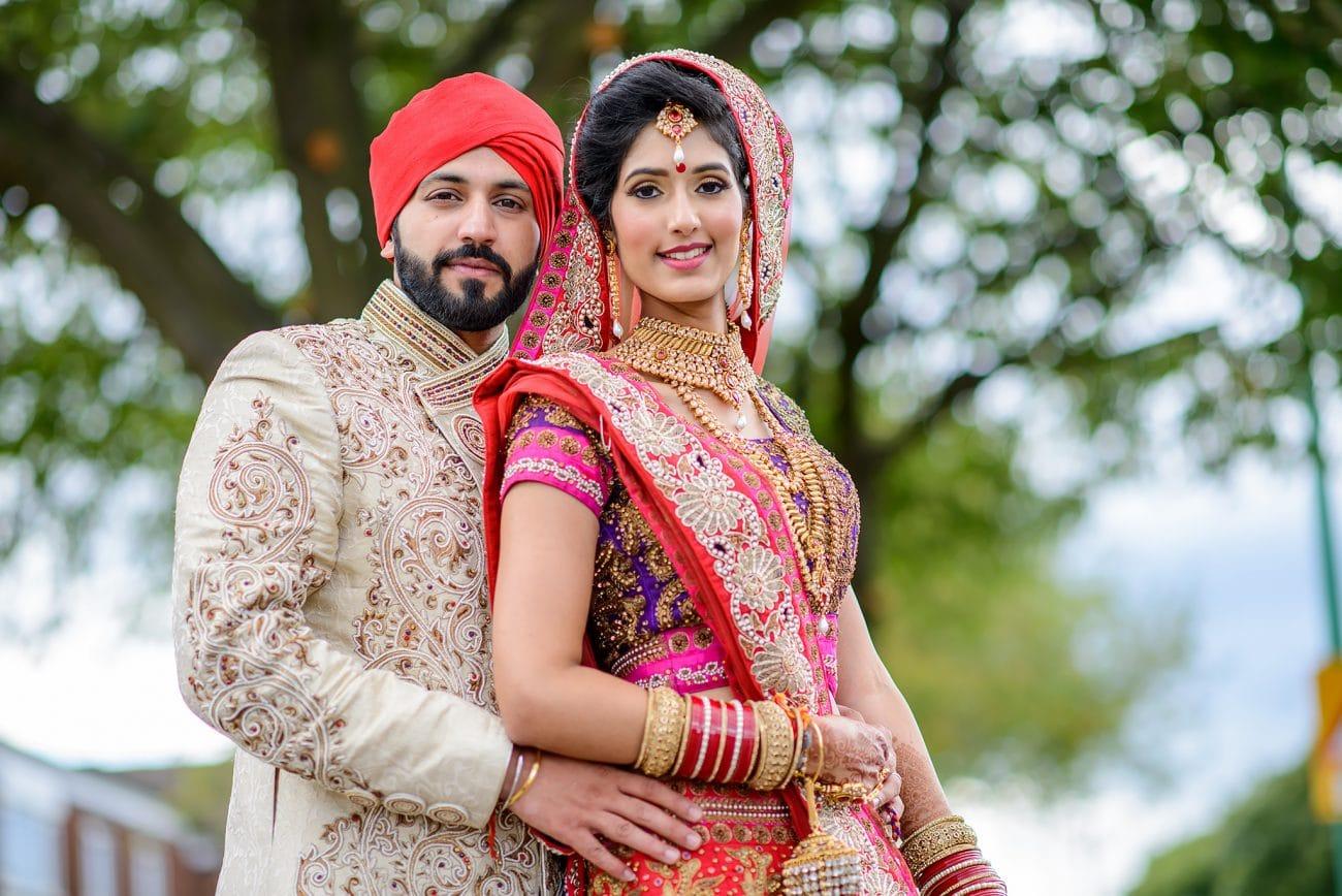 Sikh hertfordshire couple portraits