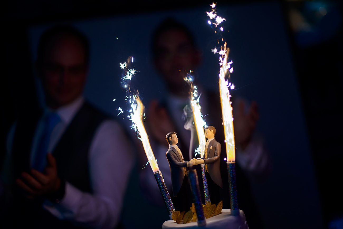 Sopwell house wedding cake gay couple