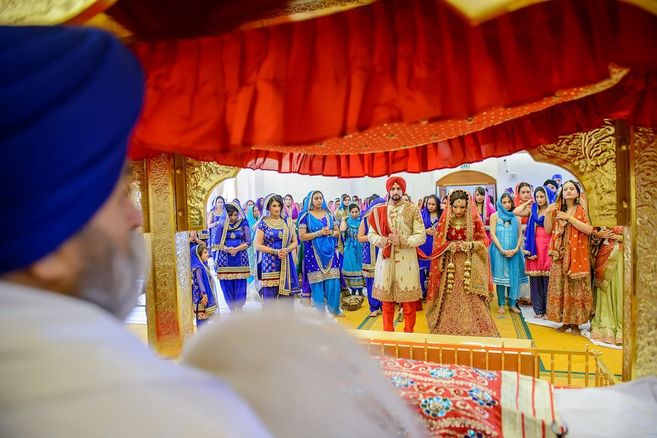Sri guru singh sabha gurdwara southall wedding photographer