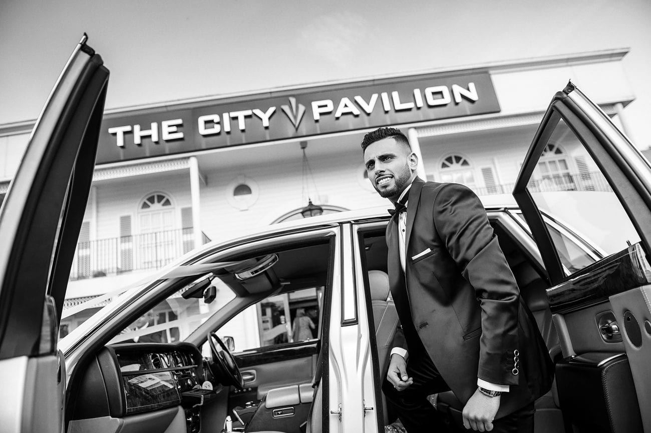 The city pavilion wedding photographer