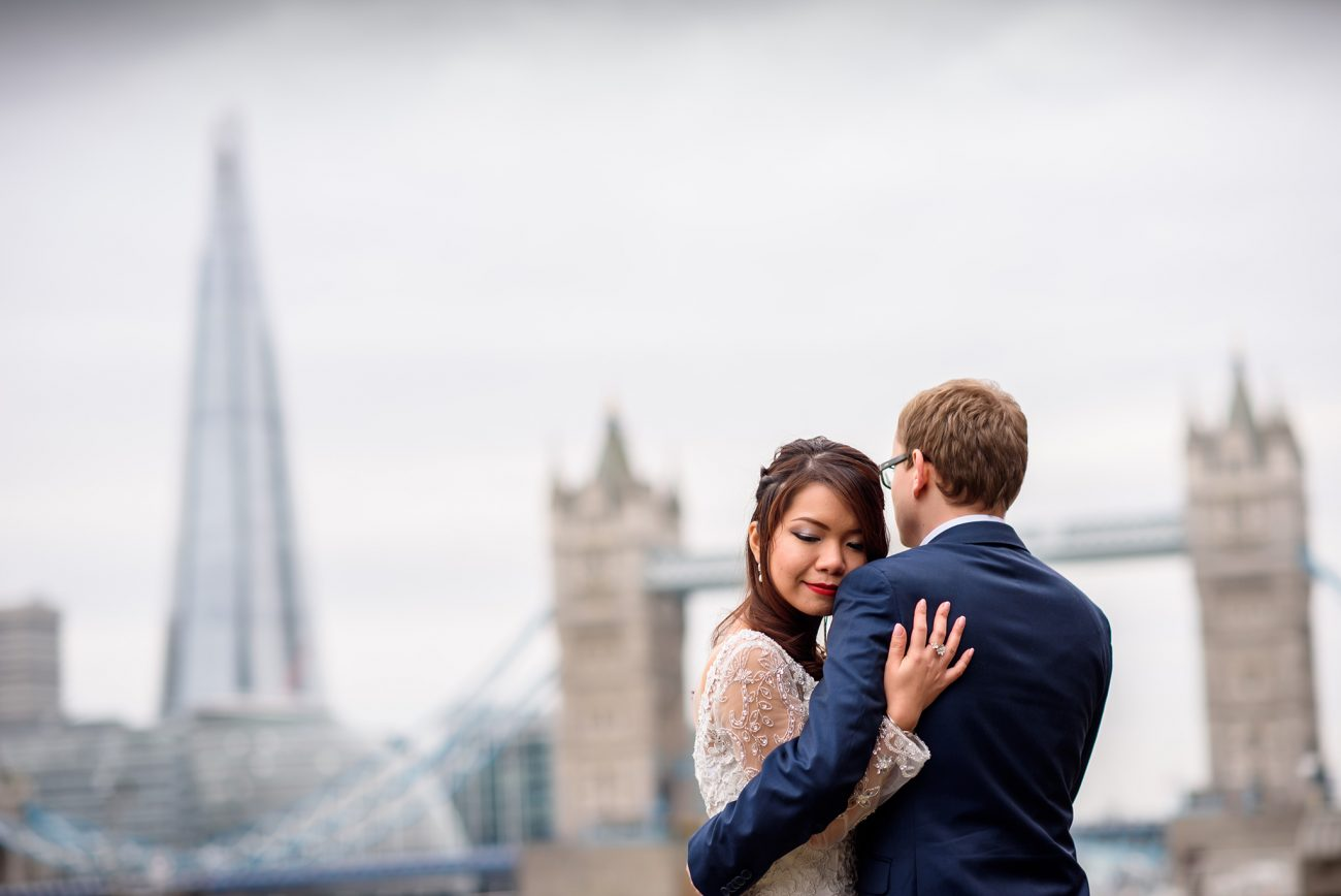 Tower bridge wedding photography