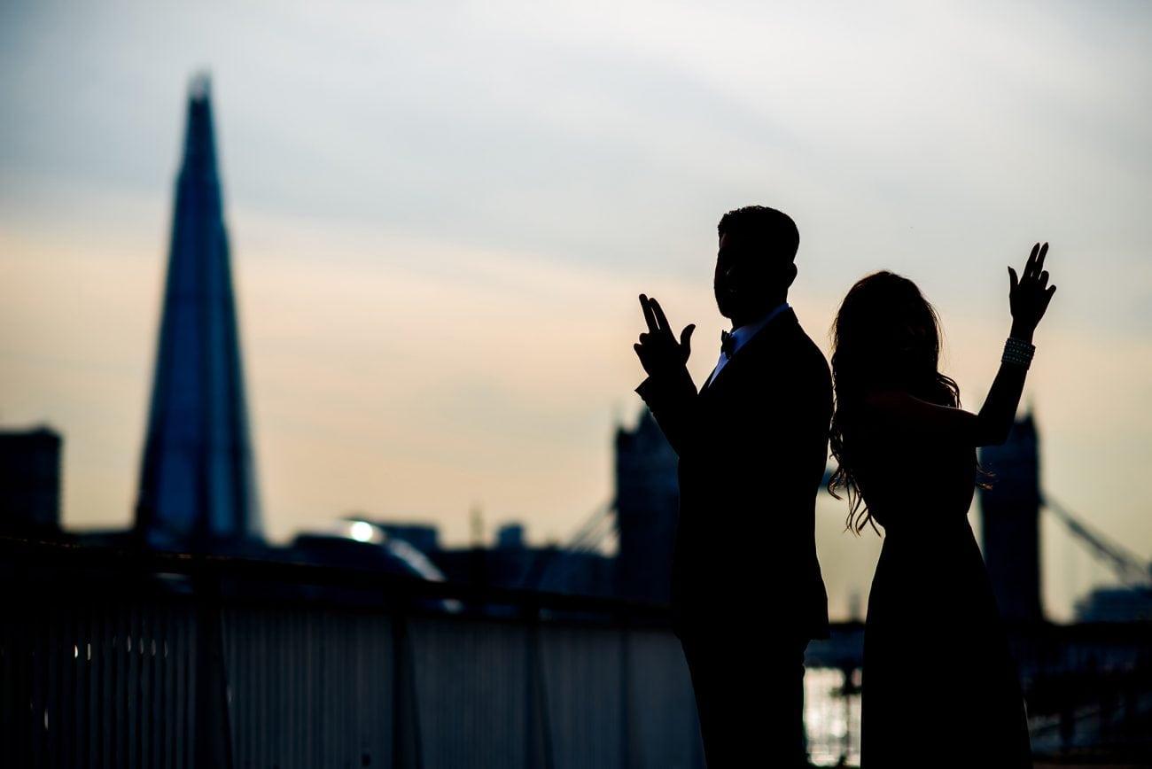 Tower bridge engagement photography