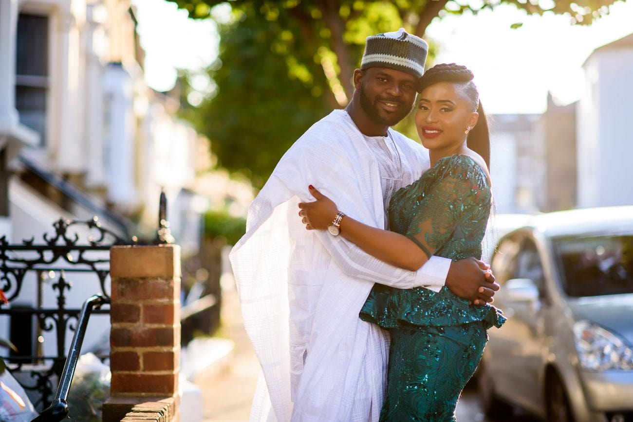 Traditional nigerian engagement photo session