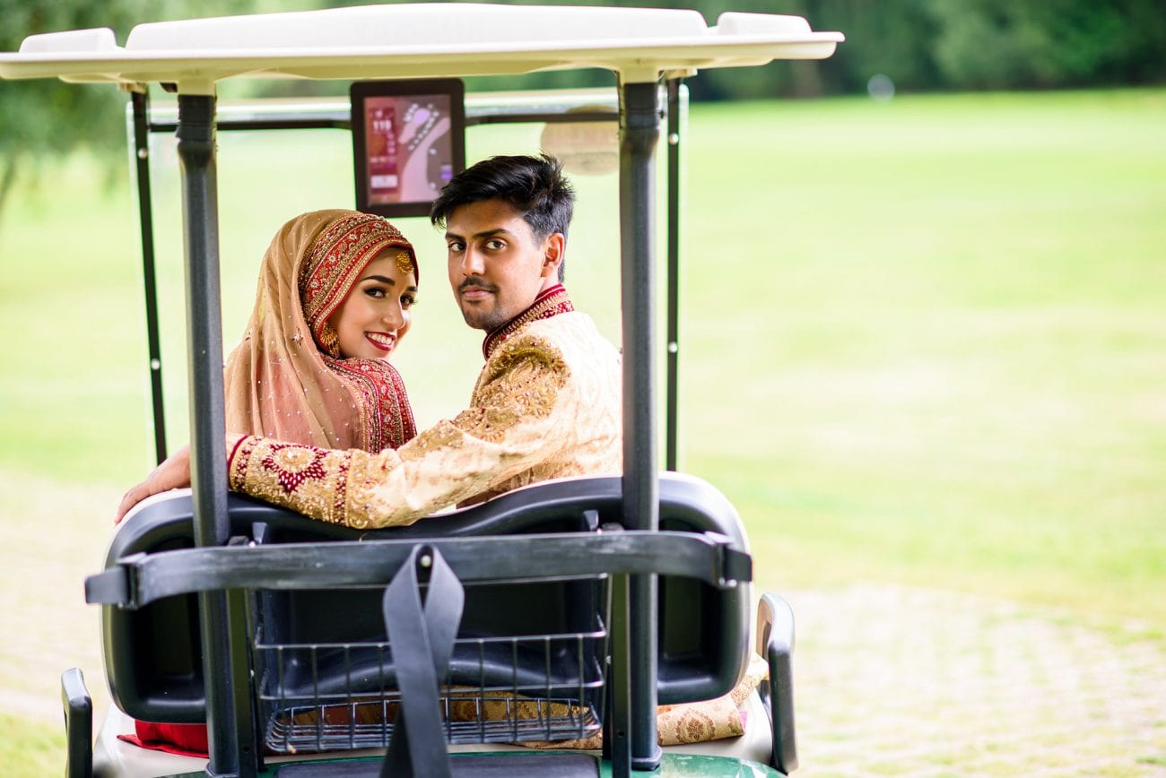 Wentworth golf club wedding photo session