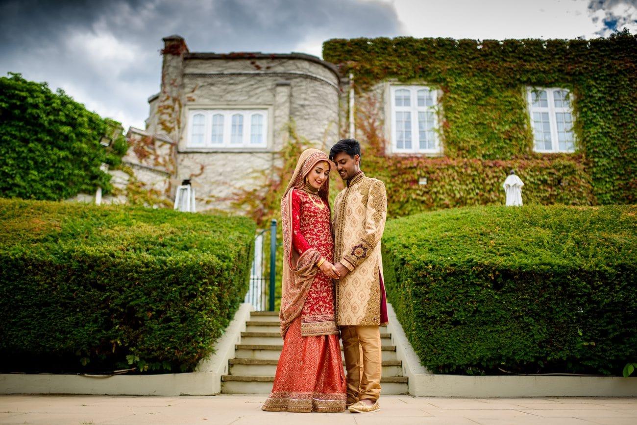Wentworth golf club wedding couple portraits