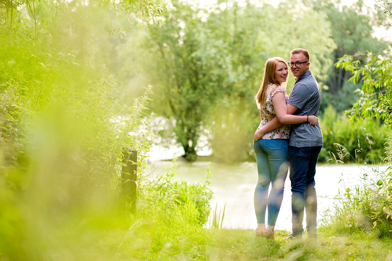 Bedford priory lake pre wedding photography
