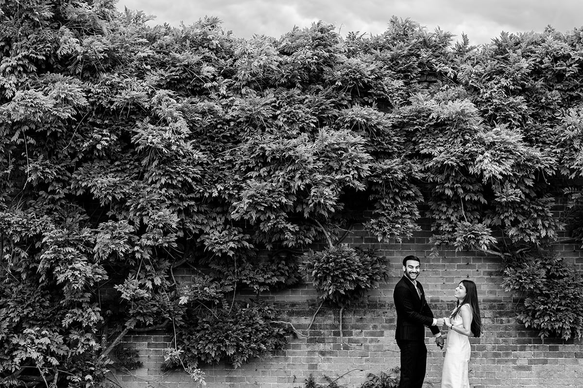 Engagement Photos in the Italian Garden at North Mymms Park